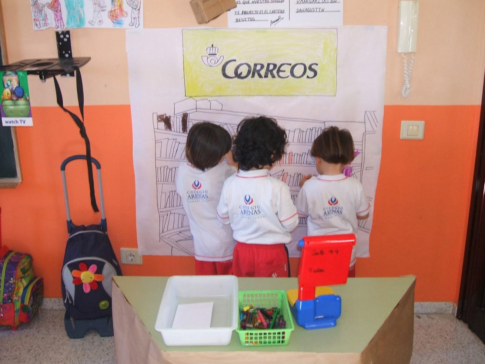 Trazos de colores proyecto el cartero infantil 3 a os for Correos es oficina virtual