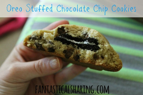 Oreo Stuffed Chocolate Chip Cookies - made famous by Jenny of Picky Palate #cookies