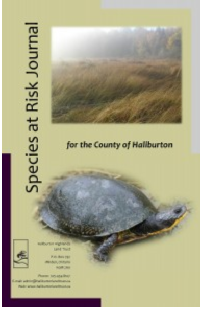 Species At Risk Journal -Haliburton Highlands Land Trust cover image turtle , farmland linked to ordering information
