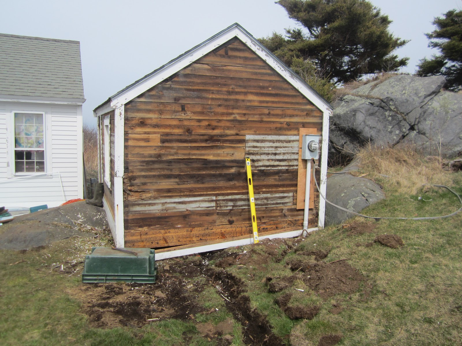 Shed Demolition Project : Monhegan madness shed project sheet rock demolition