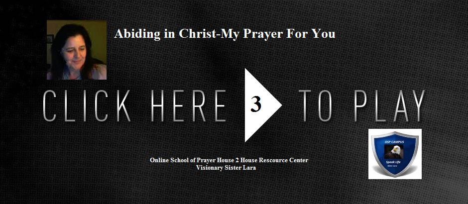 Abiding in Christ-My Prayer For You, Abiding in Christ-Discipleship School, Sister Lara Beyond the Veil Prophetic Ministries, Visions of Jesus,