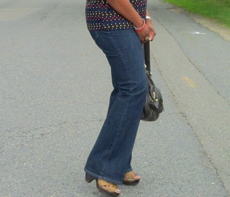 Sandals to wear with flare jeans