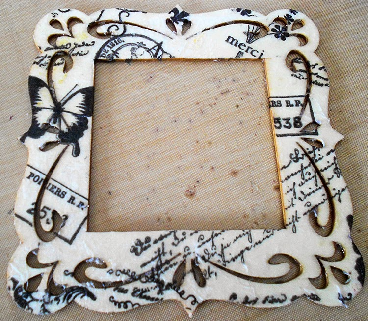 laughngypsy tissue paper frame blog post