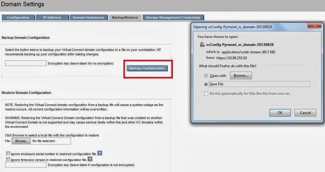 HP Virtual Connect Backup Procedure Virtualcloudz - Backup and restore procedures template