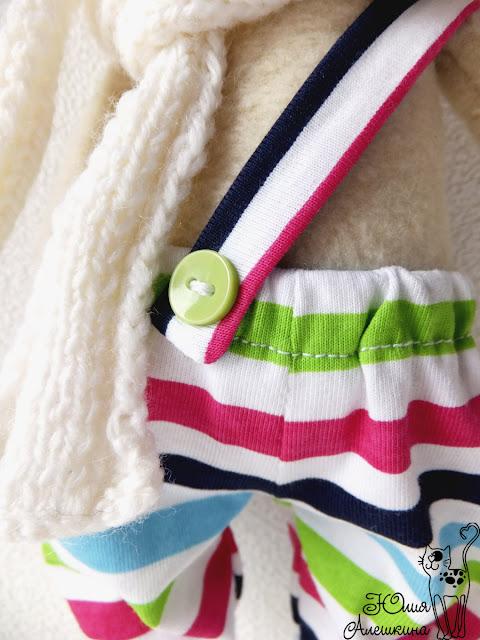 Кот хулиган Лёха - детали - штанишки с пуговкой