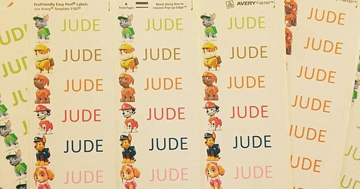 Judemobley Paw Patrol Free Editable Label Printables