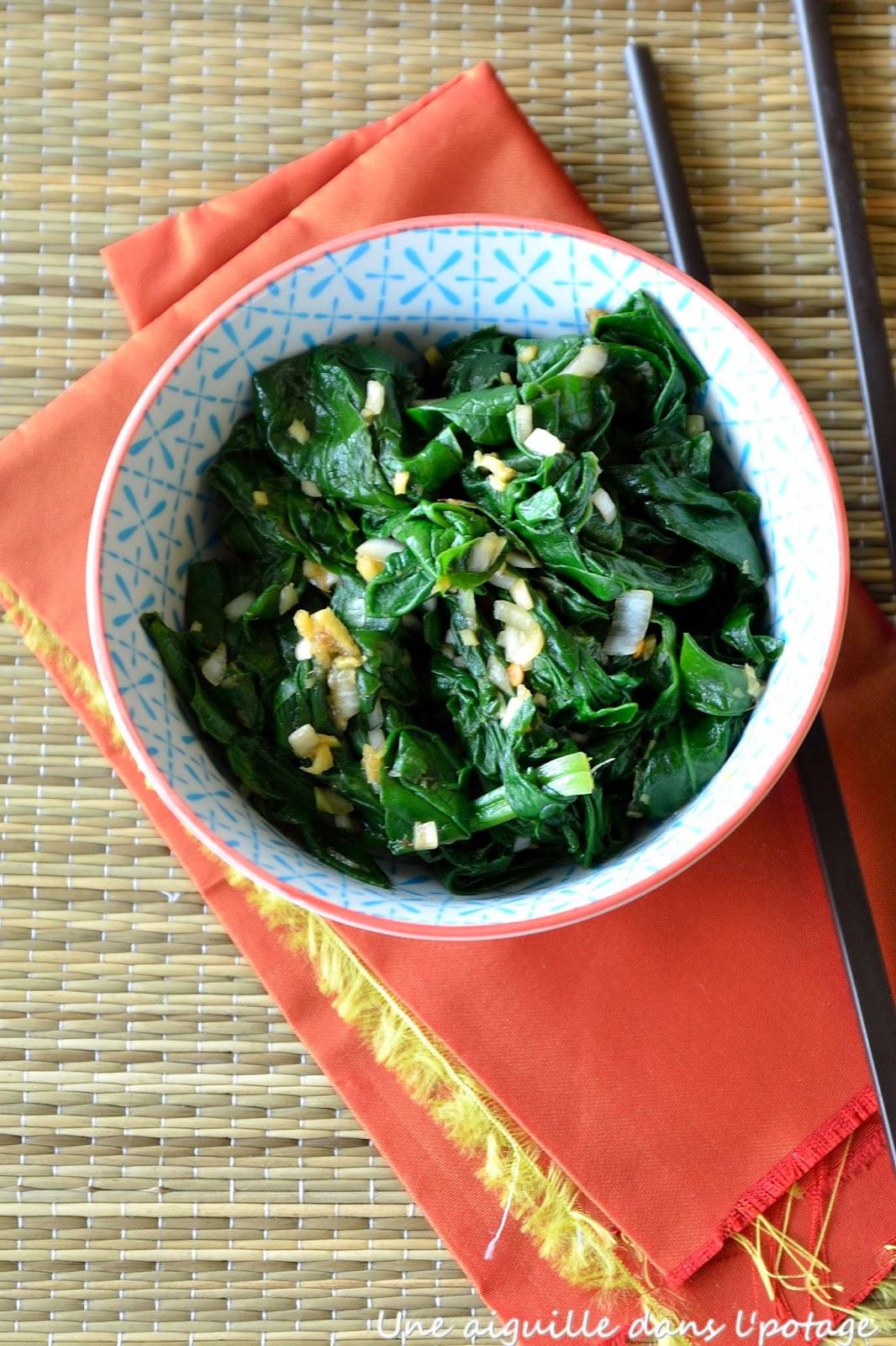 épinards cuisine asiatique