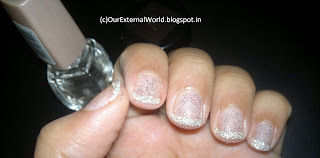 Silver Rain on my nails - Glitter Nails
