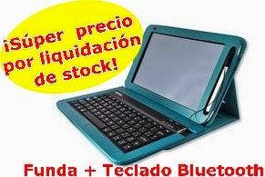 Funda y Teclado Bluetooth tableta Papyre Edu 1010