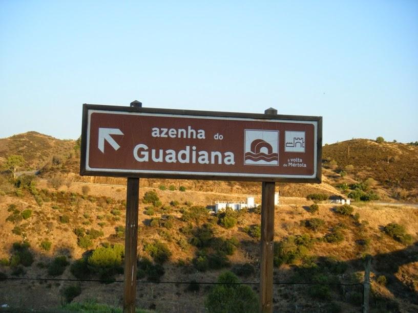 Placa informação Azenha do Guadiana