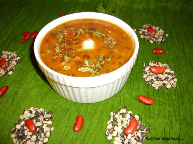 Dal Makhani recipe / Dhal Makhani recipe / Daal Makhani Recipe - Mah Ki Dal / Black Gram & Kidney Beans Gravy