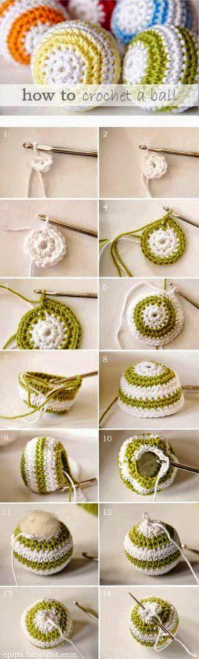 Cómo tejer una pelota al crochet - paso a paso