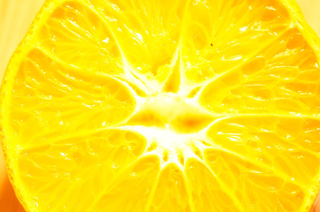 copyright free picture of a vertically cut orange