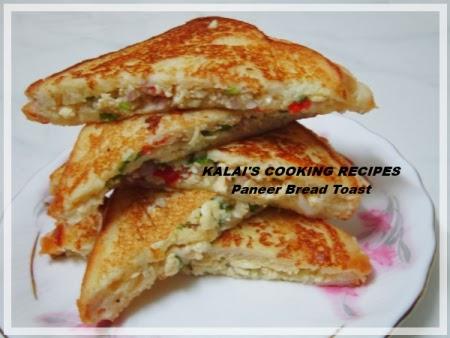 Simple Paneer Bread Toast   Paneer Sandwiches - Easy Breakfast