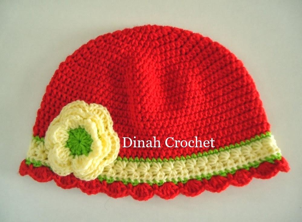 dinah crochet baby girl hat. Black Bedroom Furniture Sets. Home Design Ideas