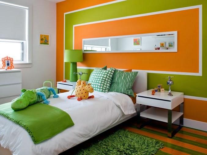 Оранжевая спальня фото