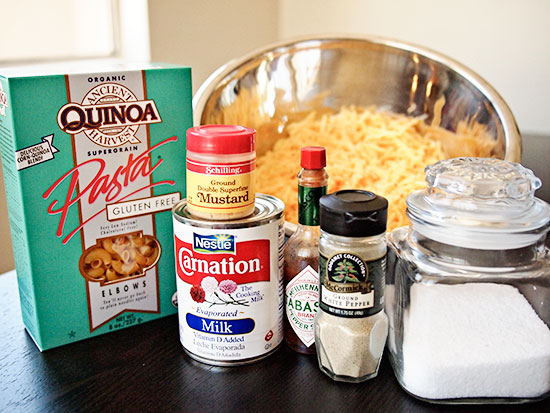 Ingredients for Mac 'n' Cheese