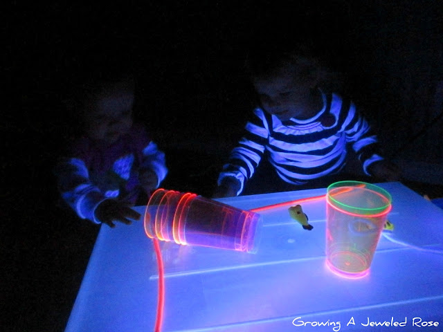 DIY light box glowing