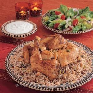 Roasted Chicken With Oriental Rice Recipe