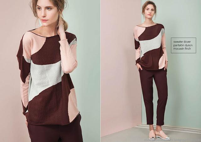 Moda invierno 2015 ropa de mujer Las Pepas.