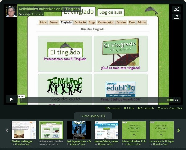 Canal de Vimeo de Alejandro Valero