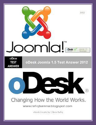 Joomla 1.5 Test Answer Ebook