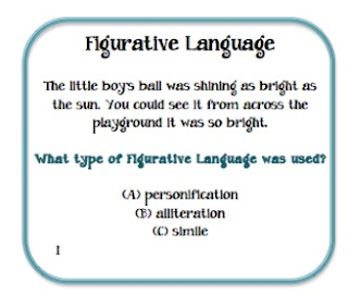 figurative language task cards pdf