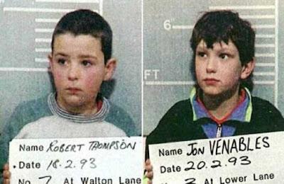 Jon Venables y Robert Thompson asesino infantil