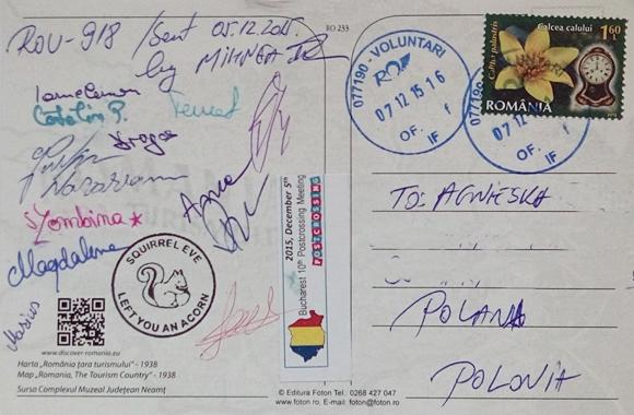 Podpisy uczestnikow zlotu w Rumunii