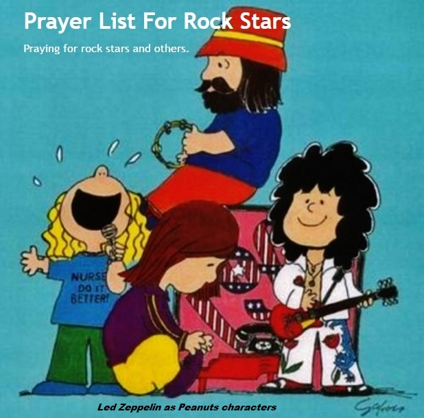 Prayer List For Rock Stars