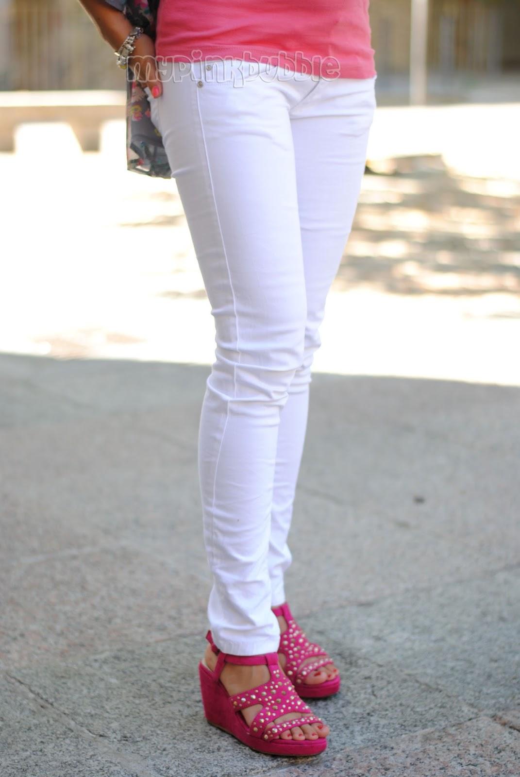 Pantalones blanco pitillo