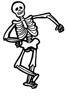 Funny Skeleton Coloring Pages