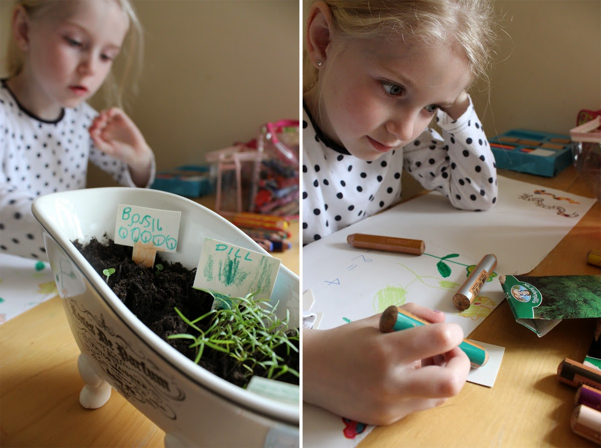 family fun, garden, spring, girl drawing, todaymyway.com