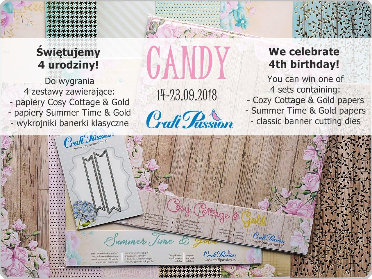 Candy z okazji 4 urodzin Craft Passion