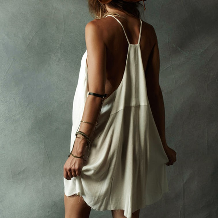 Loose white cami dress SoCal