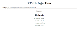 Blind XPATH Injection