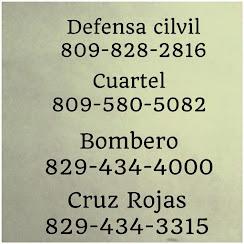 Telefonos de emergencia en el municipio de Tamboril