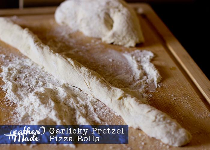 Garlicky Pretzel Pizza Rolls. heatheromade. recipe. appetizers.