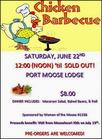 6-22 Chicken BBQ at Port Moose