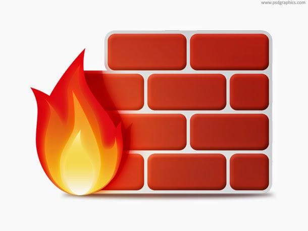 Firewall Icon PSD