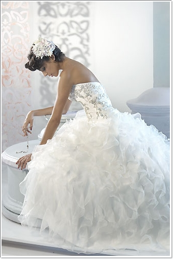 White Wedding Dresses For  : Puffy white wedding dress designs