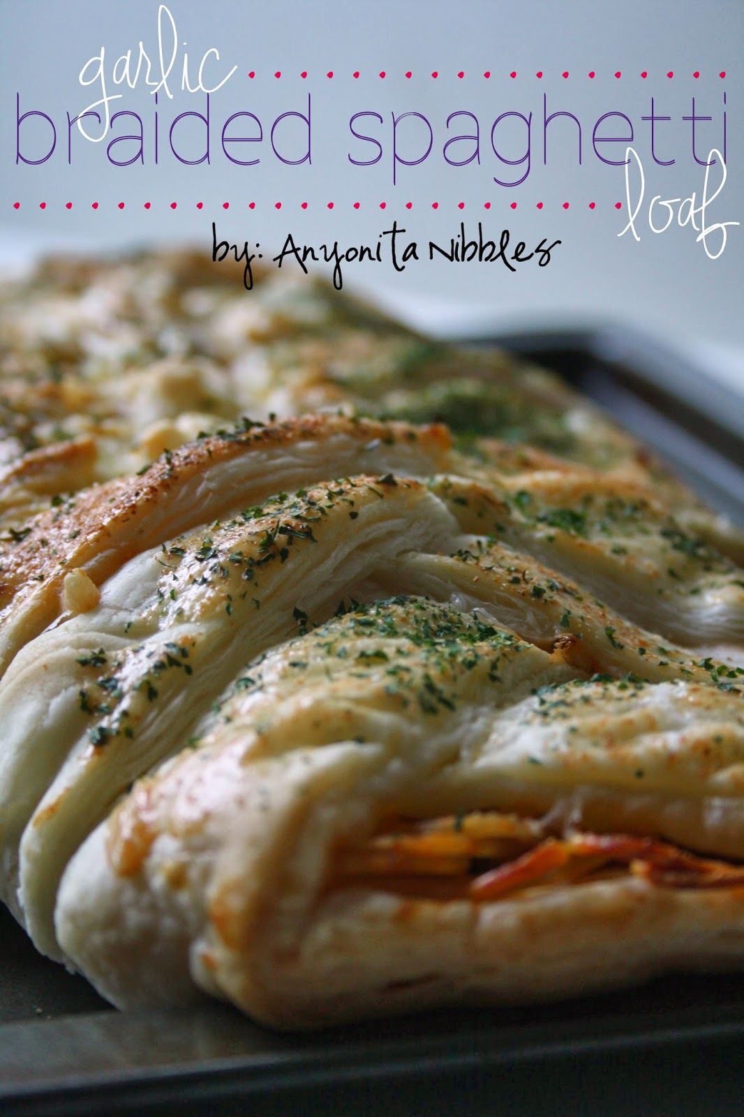 Close up of garlic braided spaghetti loaf | Anyonita Nibbles