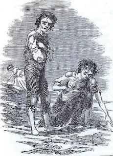 Irish children during the potato famine