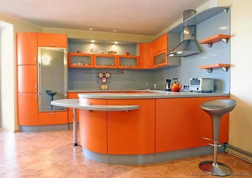 Belle Decoration Cuisine Couleur Orange. Quelle Couleur Pour Une