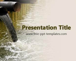 Water Pollution PPT Template | Free PowerPoint Templates