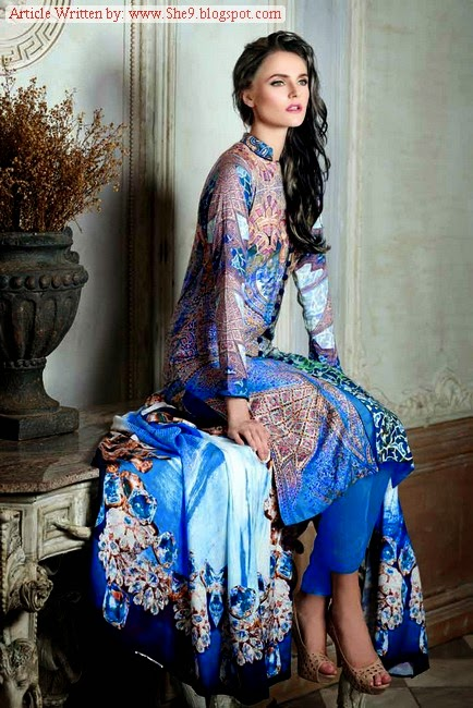 Gul Ahmed Linen dress collection Winter /  Fall 2014
