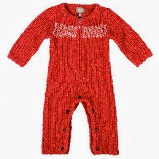 Kidscase Baby Knitted Onesie Red Kidsen