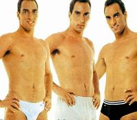 Propaganda de cuecas com o jogador de futebol Edmundo nos anos 90