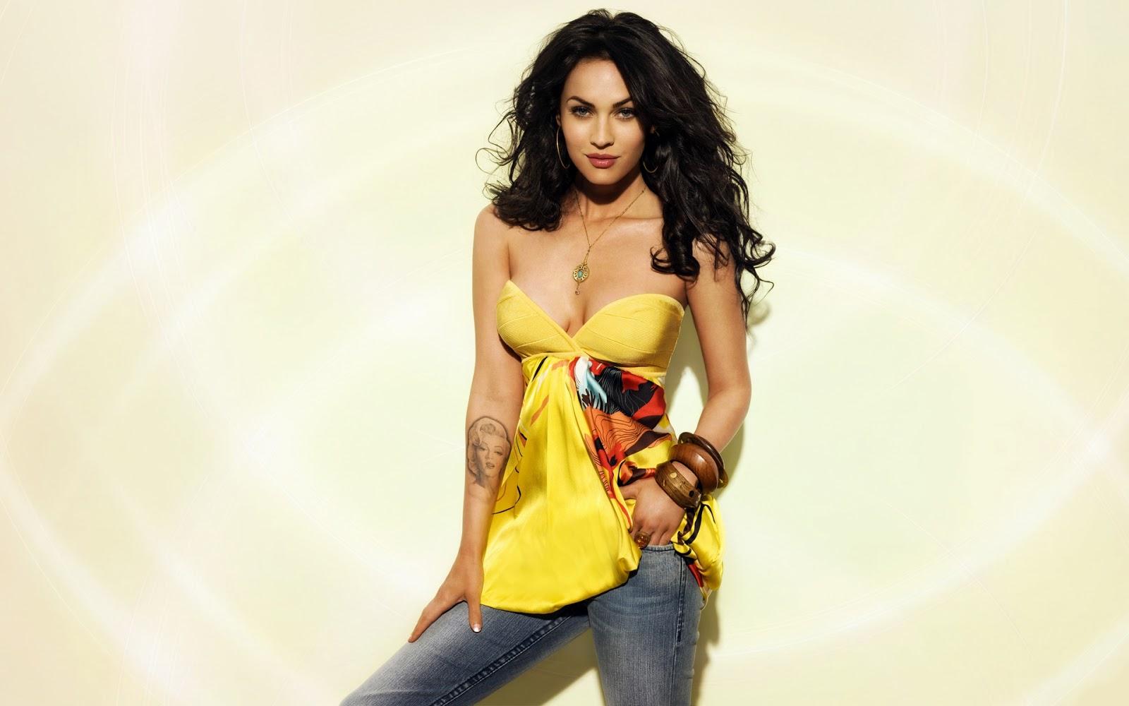 Megan Fox Looking Hot in Yellow Dress 22