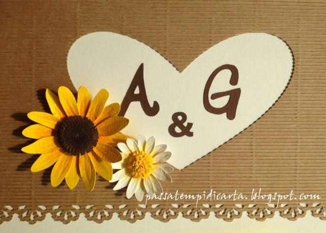 Guestbook Matrimonio Girasoli : Passatempi di carta matrimonio handmade guestbook libro degli